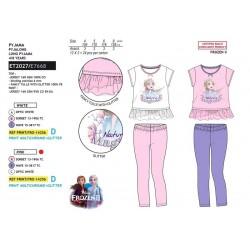 Pijama largo camiseta mc+pantalon largo frozen-SCV-ET2027-FROZEN