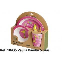 GBV-10434/5/6 gamberritos al por mayor Vajilla infantil bambú