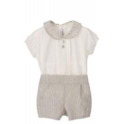 Conjunto camiseta manga corta y short bebé Urano-17326-Calamaro Baby