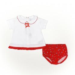 Conjunto corto bebe niña camiseta y cubrepañal-SMV-21416-Street Monkey