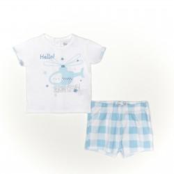 Conjunto corto bebe niño camiseta y pantalon-SMV-21403-Street Monkey