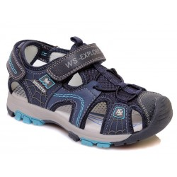 Sandalia piel cierre velcro-WEV-R060850503 DB-Weestep