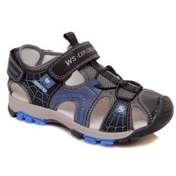 Sandalia piel cierre velcro-WEV-R060851011 DBGR-Weestep