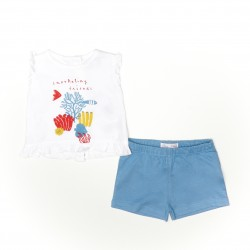 Conjunto corto bebe niña camiseta y pantalon-SMV-21417-Street Monkey