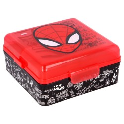 Sandwichera multiple cuadrada spiderman urban web-51393