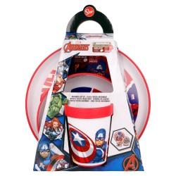 Set antideslizante premium bicolor 3 pcs avengers comic heroes-STV-57781-Stor