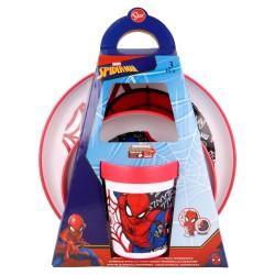 Set antideslizante premium bicolor 3 pcs spiderman urban web-STV-51381-Stor