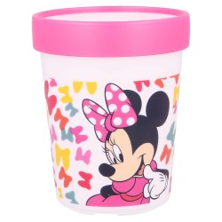 Vaso antideslizante premium bicolor 260 ml minnie so edgy bows-STV-51195-Stor