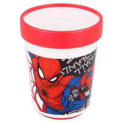 Vaso antideslizante premium bicolor 260 ml spiderman urban web-STV-51395-Stor