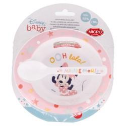 Set micro toddler 2 pcs. (cuenco y cuchara) minnie indigo