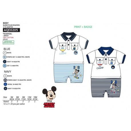 Traje/pelele mc 100% algodón MICKEY Bebe niño fabrica de ropa