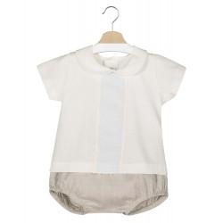 Conjunto camiseta manga corta y short bebé Waimea-17494-Calamaro Baby