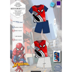 Pijama corto algodón spiderman-SCV-UE2034-SPIDERMAN