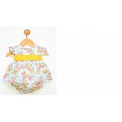 Vestido tirantes+cubrepañal y diadema colección cerezas-ALM-22332-TONY BAMBINO