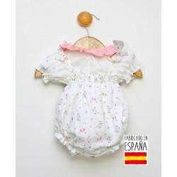 Conjunto corto bebé dos piezas: peto y camisa cuello volante-PPV-24247-Popys