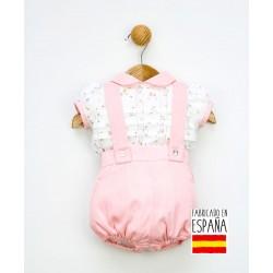Conjunto corto bebé dos piezas: camisa y pantalón con tirantes-PPV-24250-Popys