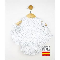 Conjunto bebé 2 piezas: vestido y cubrepañal estampado cangrejos-PPV-24274-Popys