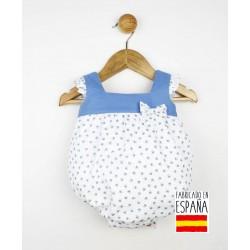 Ranita bebé tejido combinado lino/algodón estampado