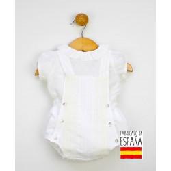 Conjunto corto bebé dos piezas: peto y camisa plumeti-PPV-24283-Popys