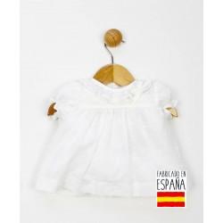 Camisa manga corta plumeti cuello volante-PPV-24300-Popys