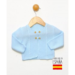 Chaqueta punto bebé con botones en madera-PPV-24319-Popys