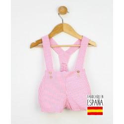 Pantalón corto tirantes estampado rayas-PPV-24330-Popys