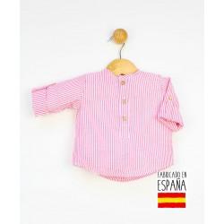 Camisa bebé estampado rayas cuello mao-PPV-24332-Popys