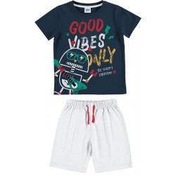 "Pijama niño m/c-p/c ""good vibes""-TAV-21137004-TOBOGAN"