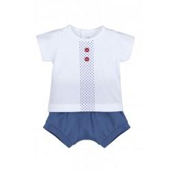 Conjunto corto bebé pololo leyte-ALM-17591-Calamaro Baby