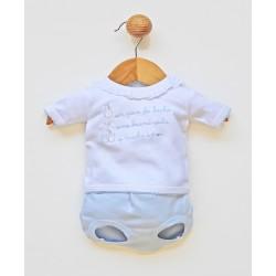 Conjunto corto bebé 2 piezas algodón cuello