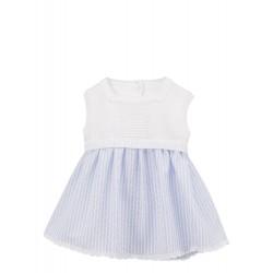 Vestido bebé desmangado Aura -Calamaro Baby