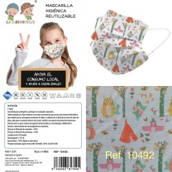 Mascarilla infantil talla 3-9-GBI-10490/1/2/3-Gamberritos