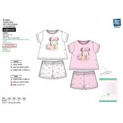 Pijama corto 100% algodón MINNIE Bebe niña