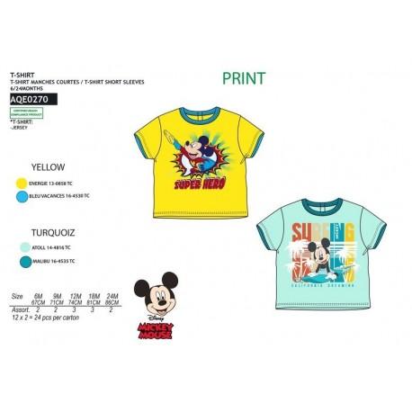 Camiseta mc 100% algodon MICKEY Niño fabrica de ropa de bebe al