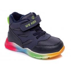 Botines deportivos cordones y velcro suela multicolor-WEI-R556955023 DB-Weestep
