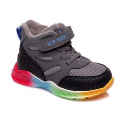 Botines deportivos cordones y velcro suela multicolor-WEI-R556955023 GR-Weestep