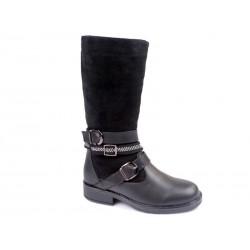 Botas altas niña-WEI-R516538322 BK-Weestep