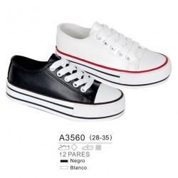 Calzado sport estilo converse con maxi suela y cierre cordones - Bubble - BBI-A3560