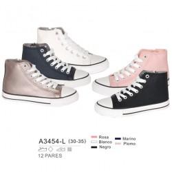 Calzado sport abotinado estilo converse, cierre cordones - Bubble - BBI-A3454-L
