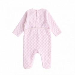 Pijama terciopelo suave carita de oso con 2 orejas bl.ancas