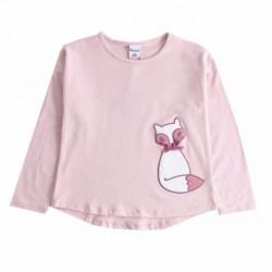 Camiseta gato con lazo cuadros algodón 100%