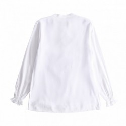 Camisa elastica cuello medio muñecas con goma algodón 100%