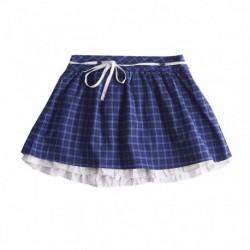 Falda cuadros azules cintura con cordon algodón 100% - Newness - KGI97918