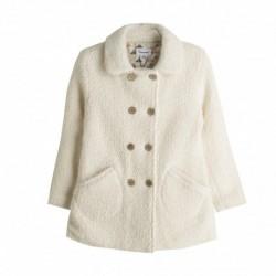 Abrigo lana bucle doble botonera