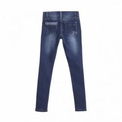Pantalon vaquero 5b con parches algodón 95% elastano 5%