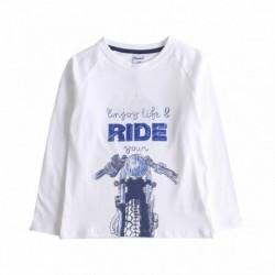 Camiseta moto delante ride algodón 100%