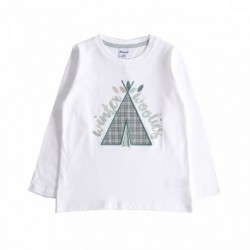 Camiseta winter wooling cuadros verdes algodón 100%