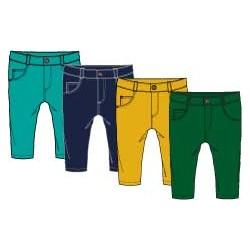 Pantalon largo color bebe niño-SMI-94052CR-Street Monkey