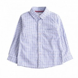 Camisa cuadros azules algodón 100%