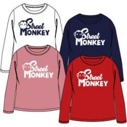 Camiseta basica manga larga niña-SMI-96055R-1-Street Monkey